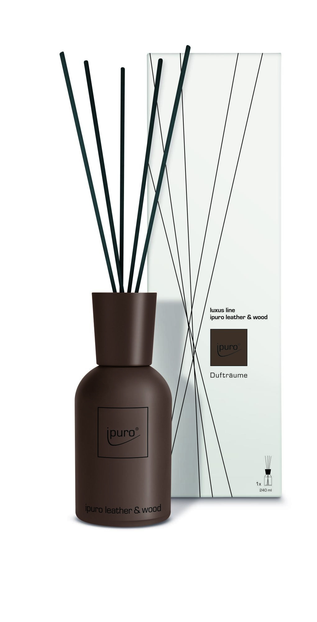 luxus line brown leather & wood Raumduft-Diffusor