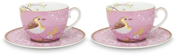 Pip Studio Early Bird Tasse mit Untertasse 2er-Set 51-004-101