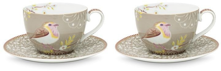Pip Studio Early Bird Tasse mit Untertasse 2er-Set 51-004-102