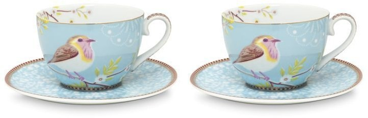 Pip Studio Early Bird Tasse mit Untertasse 2er-Set 51-004-103